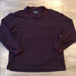 5/$25 🤩Van Heusen• Long Sleeve Maroon Polo